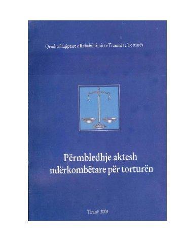 Permbledhje Aktesh Nderkombetare per Torturen - Arct