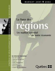 La force des régions - Budget