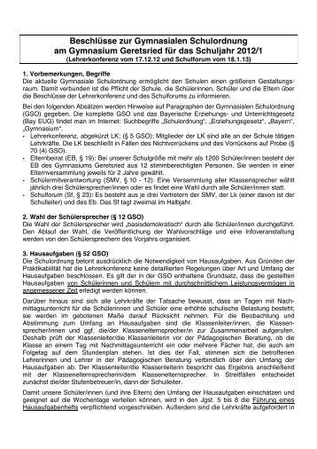 als PDF-Datei aufgerufen werden - Gymnasium Geretsried