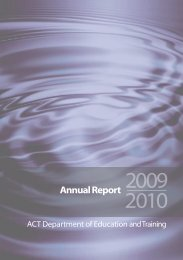 Annual Report 2009-2010 - Education and Training Directorate ...