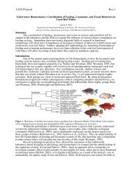 AAUS Proposal Rice 1 Underwater Biomechanics: Coordination of ...
