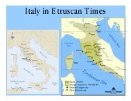 Italy in Etruscan Times - De Anza College
