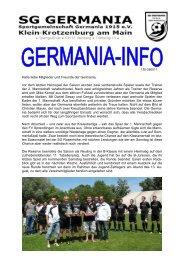 Germania bedankt sich für die großzügige Spende von ...