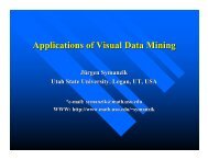 (3) Applications of Visual Data Mining - Utah State University