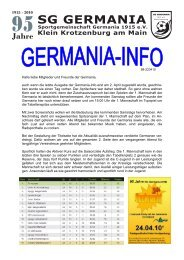 Germania Info 22.04.10 - SG Germania Klein-Krotzenburg 1915 eV