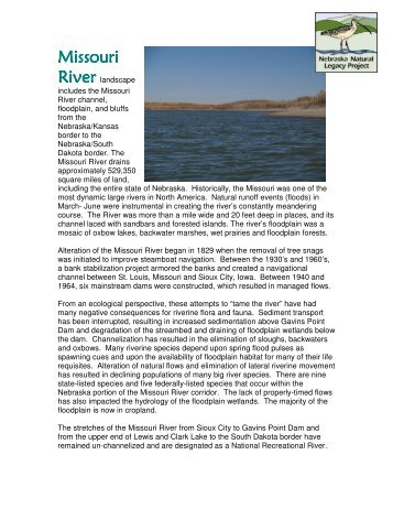 Missouri River - Nebraska Game and Parks Commission - State of ...