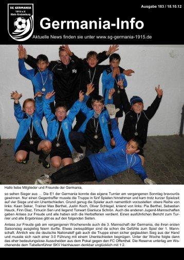 herbst-cup 2012 - SG Germania Klein-Krotzenburg 1915 eV