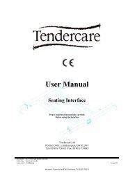 Workshop/User Manual - Tendercare Ltd
