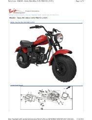MB200 Rato Mini Bike (VIN PREFIX LYOY) - Baja Motorsports