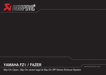 YAMAHA FZ1 / FAZER - Akrapovic Auspuff