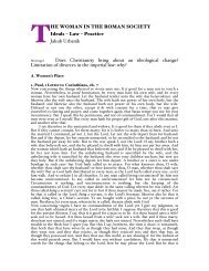 HE WOMAN IN THE ROMAN SOCIETY Ideals – Law – Practice ...