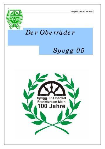 Und zwar mit seiner C Jugend Wann - Spvgg. 05 Frankfurt-Oberrad
