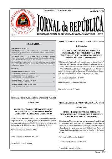 O Regime Juridico do Aprovisionamento - Governo de Timor-Leste