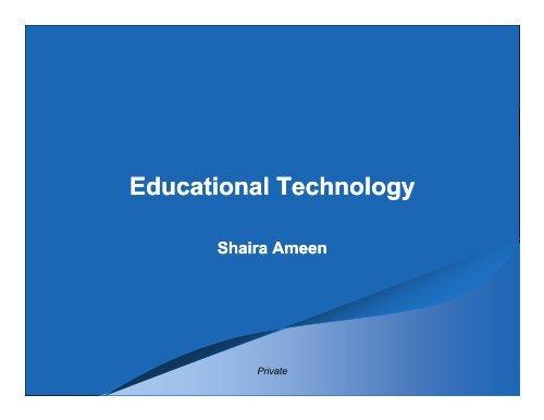 Educational Technology - My Laureate