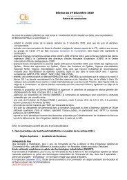 Relevé de conclusions du 14 décembre 2010 - Commission des ...