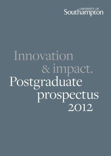 PG prospectus 2012 - Study in the UK