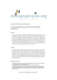 L'anthropologie dans les interfaces du monde de l'hypertexte