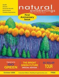 October 2009: Environment - Columbia Natural Awakenings–Home