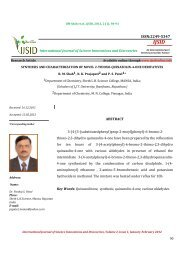 SYNTHESIS AND CHARACTERIZATION OF ... - Ijsidonline.info