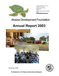 2003 Annual report (707 kb pdf) - pro natura international (nigeria)
