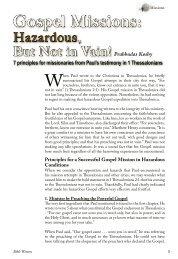 Gospel Missions: Hazardous, But Not In Vain! - Bible Witness Media ...