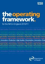 NHS Operating Framework 2010-2011 - NHS Connecting for Health