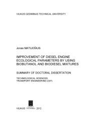 improvement of diesel engine ecological parameters by using ...