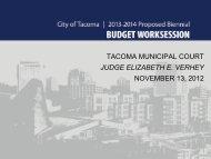2013 2014 - City of Tacoma