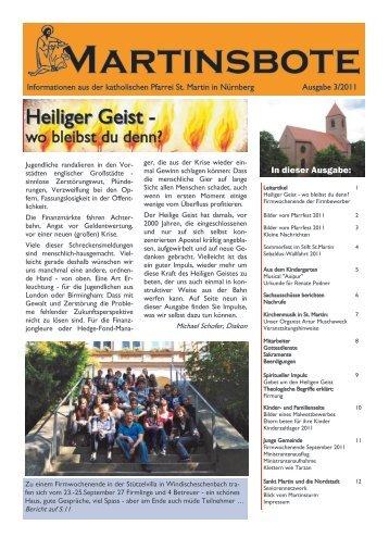 Ausgabe 3 2011 - Stadtkirche Nürnberg