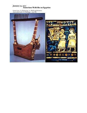 January 19, 2012 Sumerians Walk like an Egyptian - Theatre at UBC