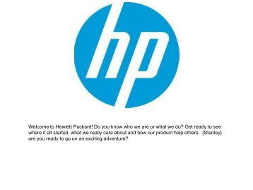 The HP tour.pdf - Digital Learning Environments