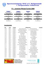 F1 – Junioren Pfingst-Turnier 2008