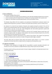 CUSTOMER COMPLAINT POLICY 1.0 Aims and ... - McGinns