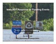 Iowa DOT Response to Flooding Events - SSTI