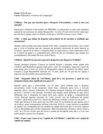 Basquetebol - UMdicas