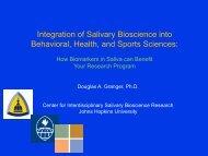 Integration of Salivary Bioscience into Behavioral, Health, and