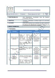 MA-GR-5.3.PR-11 Control de Licencias de software