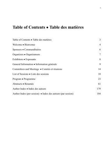 Programme et résumés (pdf) - Société statistique du Canada