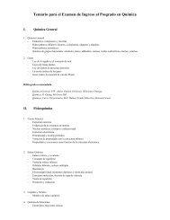 Temario para el Examen de Ingreso al Posgrado en Química - CBI