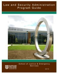 Law and Security Administration Program Guide - Durham College