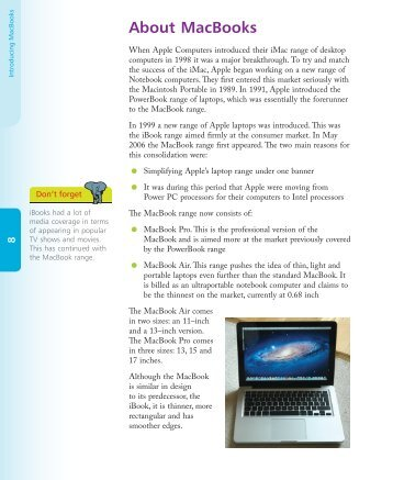 About MacBooks - In Easy Steps