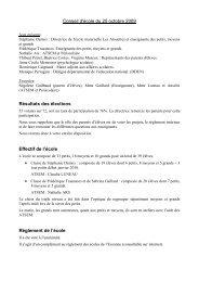 Conseil d'école du 20 octobre 2009 - Saint-Aubin