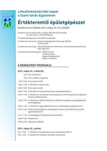 Értékteremtő épületgépészet - Magyar Épületgépészek Szövetsége