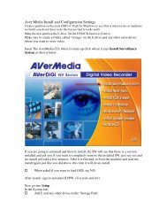 Aver Media Install and Configuration Settings - CCTV Cameras