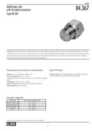 diaphragm seal, with threaded connection Type 04.367 - DRUCK ...