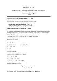 Metodický list č. 2 4) Otevřená ekonomika (model IS-LM-BP) 5 ...
