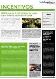 veja aqui pdf da newsletter - Newsletter Incentivos - Vida Económica