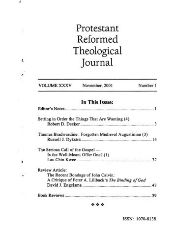 pdf - Protestant Reformed Churches in America