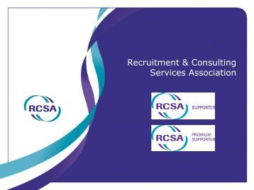 Recruitment & Consulting Services Association - RCSA
