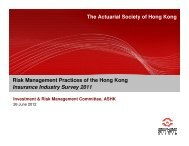 Risk Management Practices of the Hong Kong Insurance Industry ...